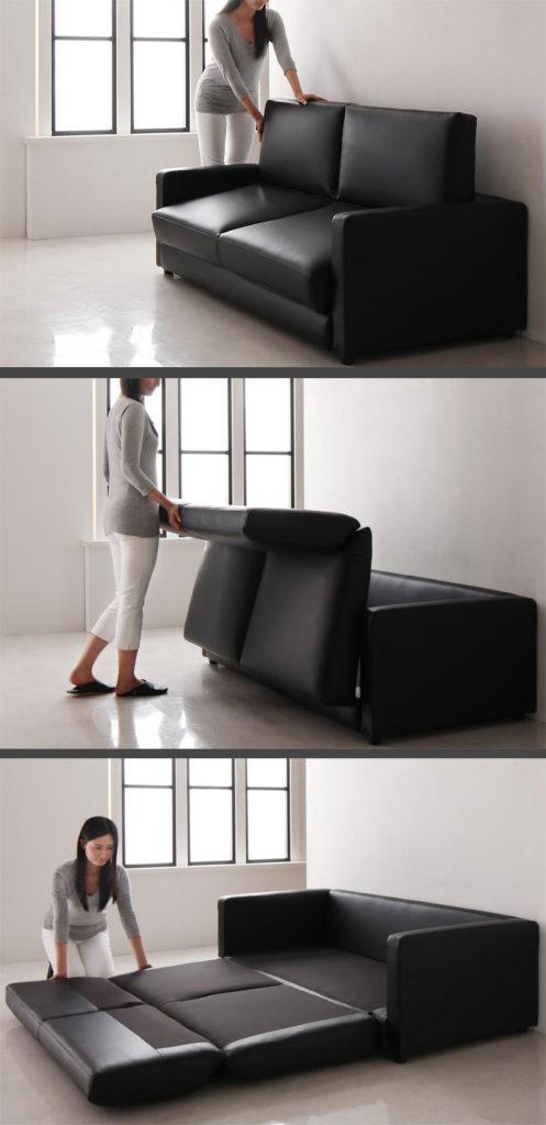 ソファベッドの展開