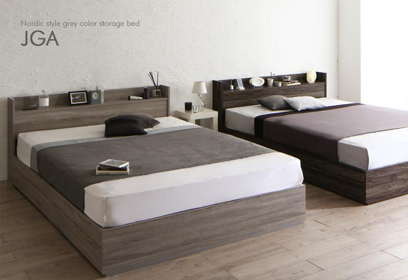 新商品-クールなグレーカラーベッド